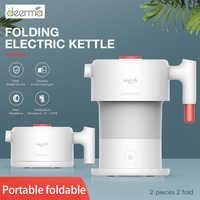 Xiaomi Deerma 0.6L składane przenośne elektryczne czajnik wodny ręczny elektryczny flaszka na wodę garnek Auto wyłączanie ochrony czajnik