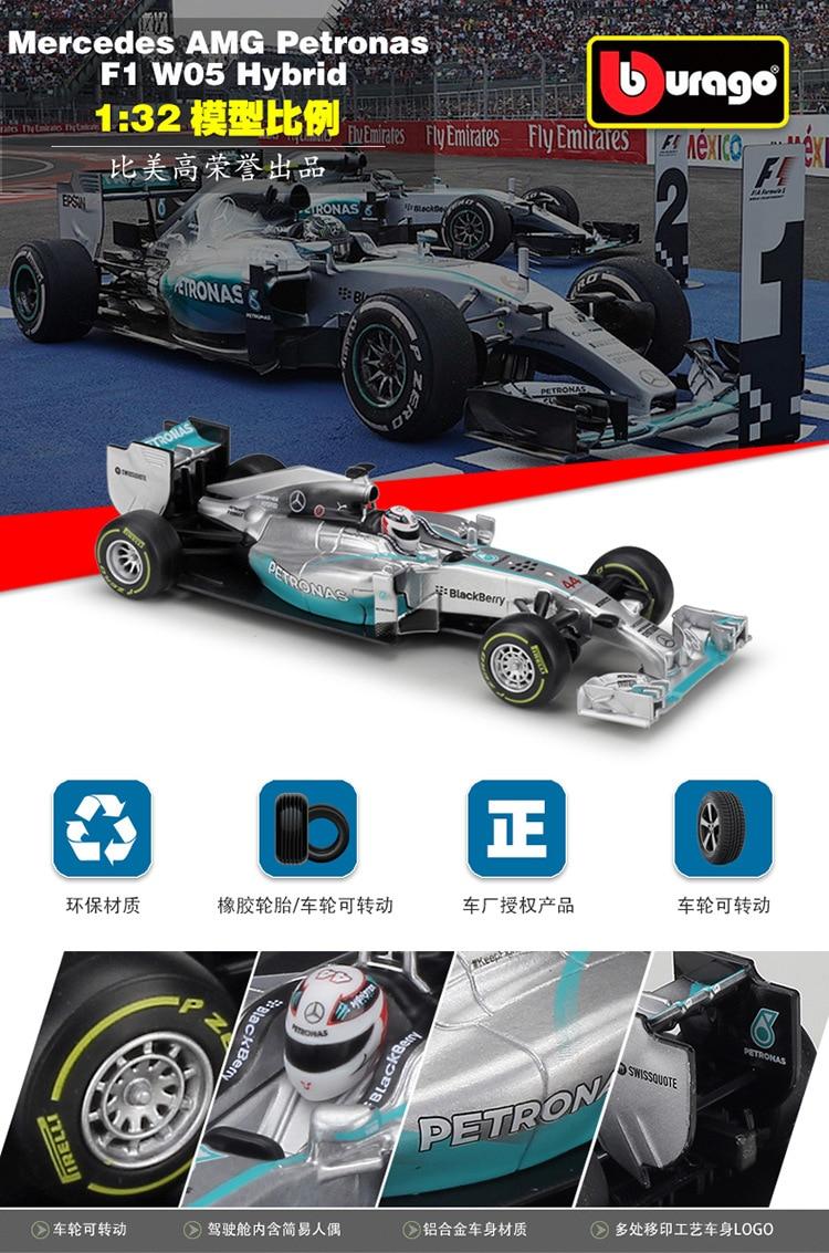 1//43 F1 Coche Colección-Mercedes W05 híbrido Lewis Hamilton 2014 coche #3 Usado