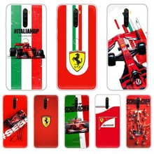 цена на Racing car f1 red Sports car painting Etui shell Transparent Phone Case For XIAOMI Redmi Note 3 4 5 6 7 8 9 9s Pro max 8T 4X
