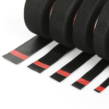 15M TESA Black TAPE Wiring Bundle Flame Retardant Tape Adhesive Fabric Wiring Loom Harness Home Improvement Home Supply Gadgets 1