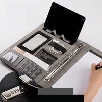 A4 Fichario Binder Document File Folder With Lock Business Organizer Ring Cabinet Holder Manager Padfolio Password Briefcase Bag