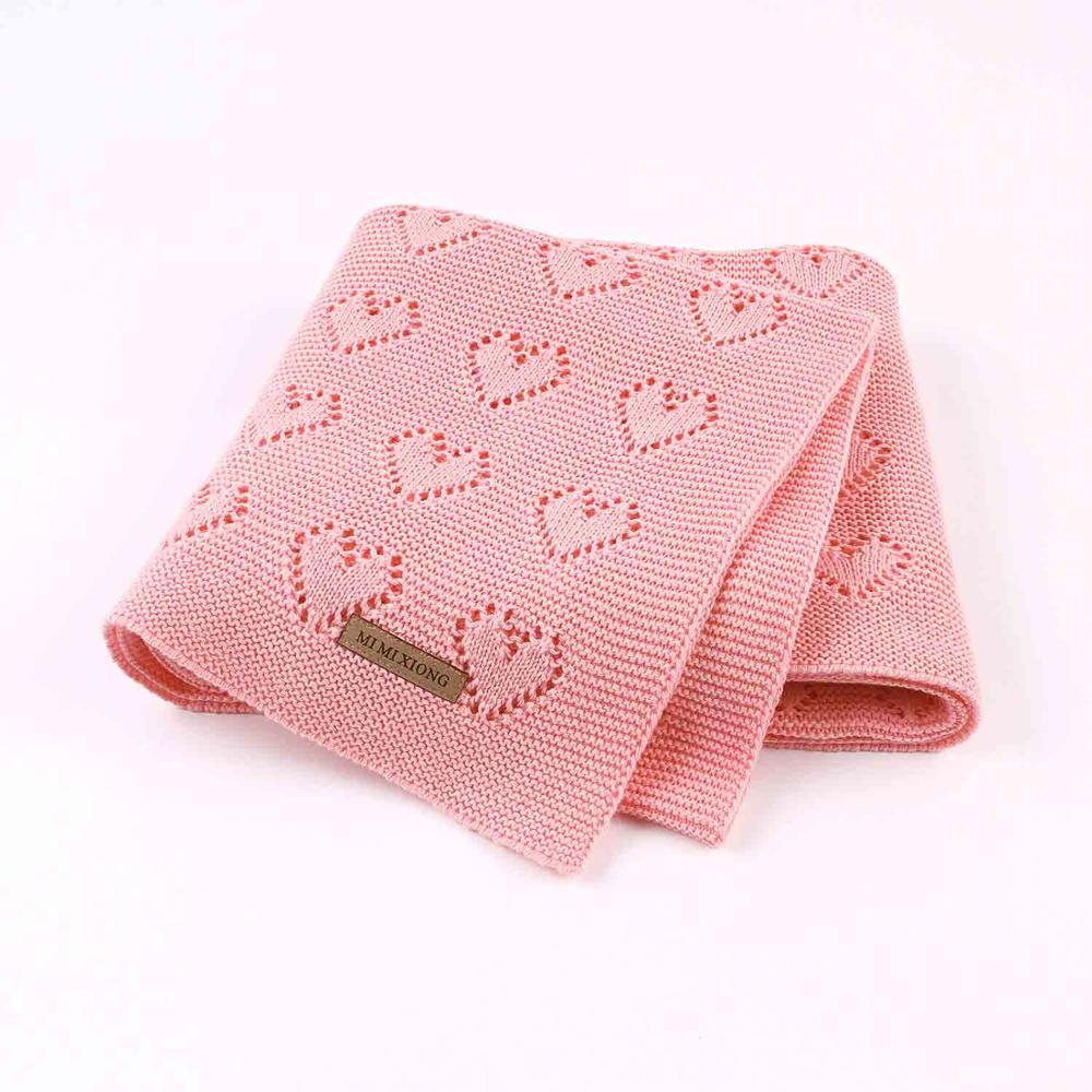 cobertores do bebe de malha moda recem nascido cor solida crianca infantil sofa cama colchas 100