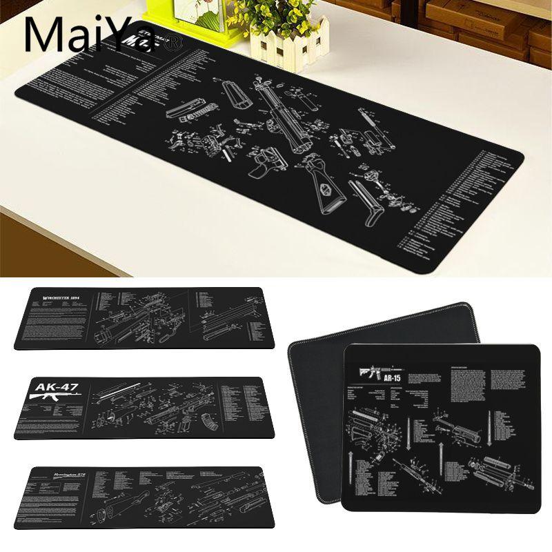 Maiya Top Quality CS GO guns parts AR-15 AK47 Customized laptop Gaming mouse pad Free Shipping Large Mouse Pad Keyboards Mat(China)