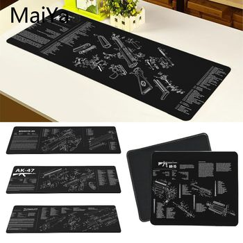 Maiya Top Quality CS GO guns parts AR-15 AK47 Customized laptop Gaming mouse pad Free Shipping Large Mouse Pad Keyboards Mat