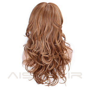 Image 4 - AISI HAIR Long Wavy Synthetic Wig Light Brown Mixed Blonde Wigs for Black Women Side Part Natural Wig Heat Resistant Hair