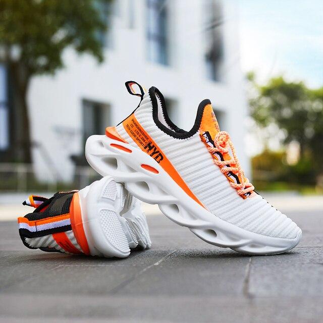 Hommes chaussures décontractées 2019 nouvelle mode respirant maille lumière personnalité baskets volant tissage chaussures femmes