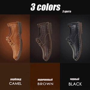 Image 2 - ZFTL yeni erkekler rahat ayakkabılar hakiki deri erkek eğlence dantel up yumuşak deri kaymaz ayakkabı adam erkek resmi ayakkabı bahar/Sonbahar 074