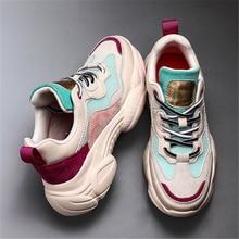Mesh Platform-Shoes Chunky Sneakers Design Fashion Women's Girl Casual Summer JIANBUDAN