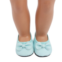 2020 Light Blue Cute Slippers New Born Baby Doll Shoes for 18