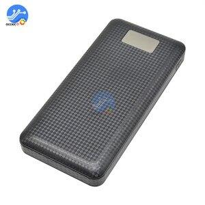 Image 4 - 3 USB 7x18650 batterie bricolage batterie externe support de la boîte boîtier LCD affichage batterie Charge pour téléphone portable PC avec lampe de poche LED