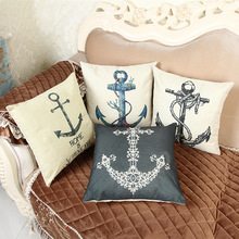 Flax Pillow Covers Decorative 3d Number Printing Cushion Cover Set Originality The Mediterranean