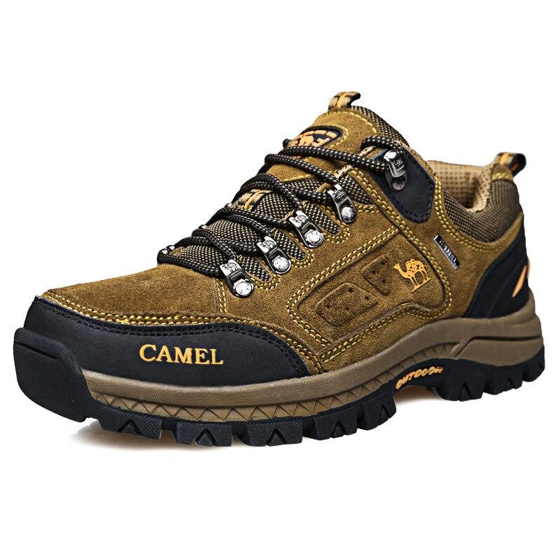 Zapatos de exterior transpirables de cuero genuino para hombre, calzado para escalada, montaña, senderismo, Camping, caminar, deporte, senderismo