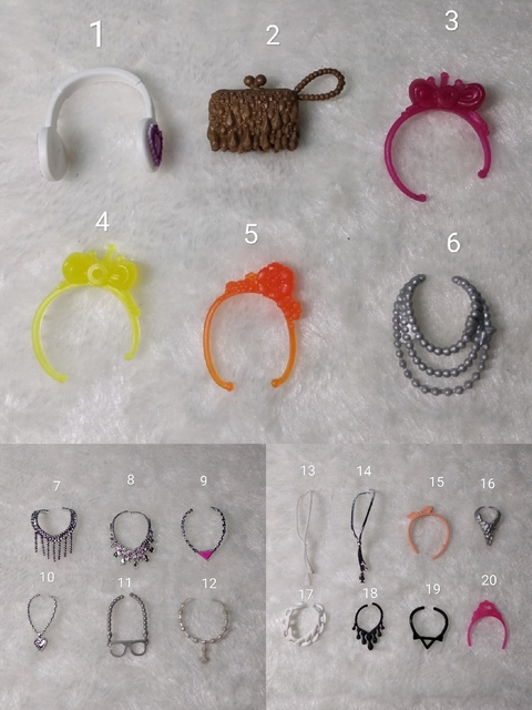 Fashion Original For Barbie Sunglasses 1/6 bjd Doll Accessories belt necklace Princess dressing up dollhouse GiftToys for Girls 1