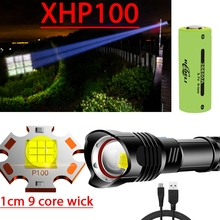 Lantern 18650 Flashlight Most Powerful Hunting XHP100 Led-Torch Xhp70-Lamp Usb Rechargeable