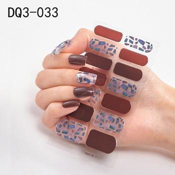14pcs/sheet Glitter Gradient Color Nail Stickers Nail Wraps Full Cover Nail Polish Sticker DIY Self-Adhesive Nail Art Decoration 49