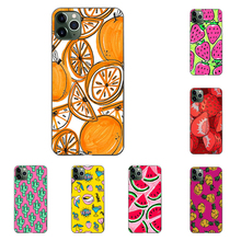 Watercolor Orange Fruit Phone Case Soft Cover Black for Iphone SE2 11 Pro Max 6 7 8plus 5 X XS XR Xsmax and Samsung S10 Series muhammad ali phone case boxing king black soft cover for iphone 11 pro max 6 7 8plus 5s x xs xr xsmax for samsung s10 series