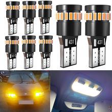 8x Белый w5w светодиодные огни без ошибок canbus dc 12v 168