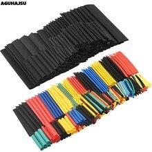 Kit de tubos de cabo elétrico para carro, 127 peças/328 peças, tubo termo retrátil, manga envoltória, 8 tamanhos misturados cor