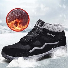 Winter Boots Men Shoes Casual-Shoes Footwear Male Walking Outdoor Warm Ankle Comfortable