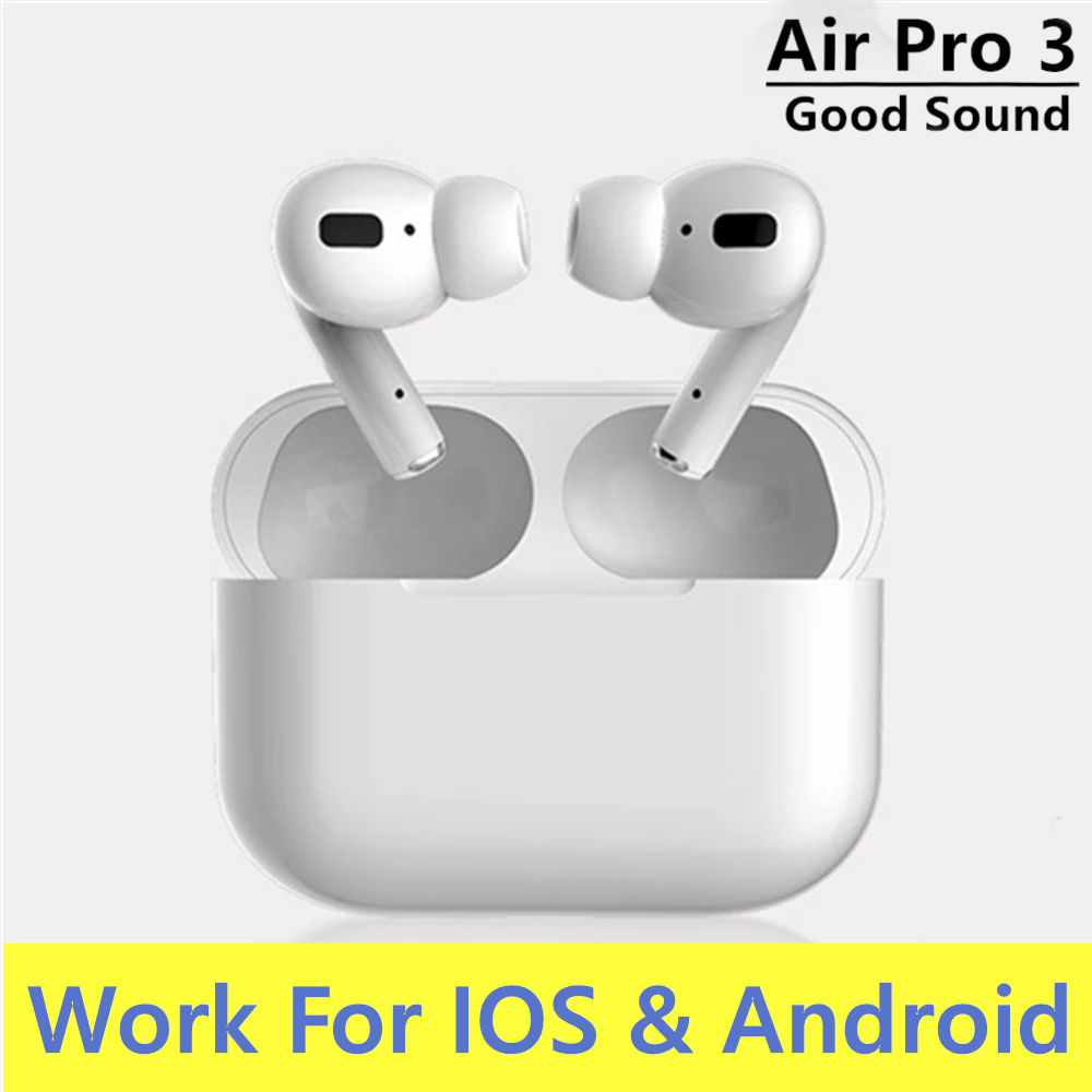 airpoddings pro 3 Bluetooth Earphone Wireless Headphones HiFi Music Earbuds Sports Gaming Headset For IOS Android Phone