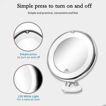 LED Mirror Makeup Mirror with LED light vanity Mirror 7X Magnifying Mirror LED Miroir Grossissant Magnifying Dropshipping Vip 2