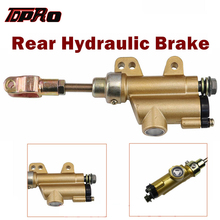 TDPRO 8mm 10mm Hydraulic Rear Brake Disc Master Cylinder Pump For 50cc 90cc 110cc 125cc 150cc 250cc ATV Quad Drit Pit Bike New tdpro 285mm 11shock absorber rear suspension for motorcycle pit dirt pocket bike atv quad buggy