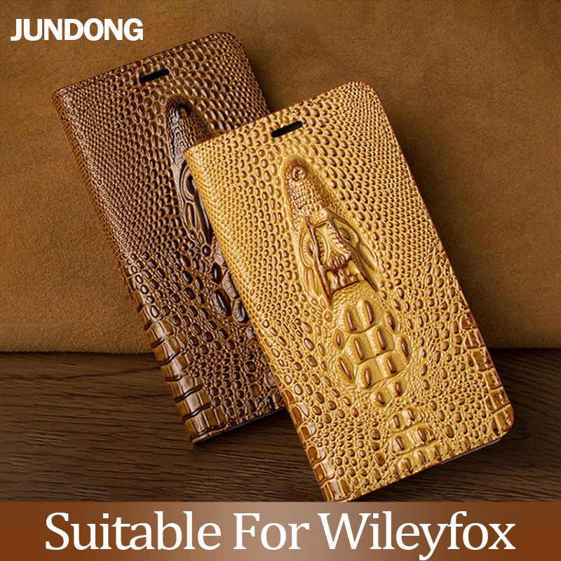 Voor Wileyfox Spakr X Swift 2 2X Plus Storm Case Koeienhuid Koeienhuid Luxe Dragon Head Flip Cover