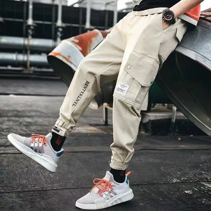 Sporty-Pants Pocket-Trousers Hiphop Causal Men Fashion High-Street for Jogger New title=