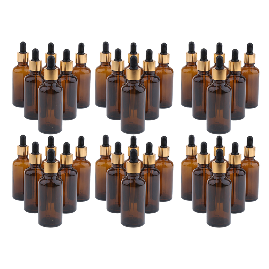 36Pcs 30ml Glass Bottles With Glass Eye Dropper Dispenser For Essential Oils, Kitchen Tools, Chemistry Lab Chemicals, Perfume
