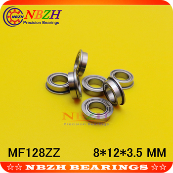 MF128-2RS SMF128ZZ MF128ZZ MF128 F678 F678-ZZ F678ZZ F678 F678Z 2z Flanged Flange Deep Groove Ball Bearings 8*12*13.6*3.5*0.8 mm image