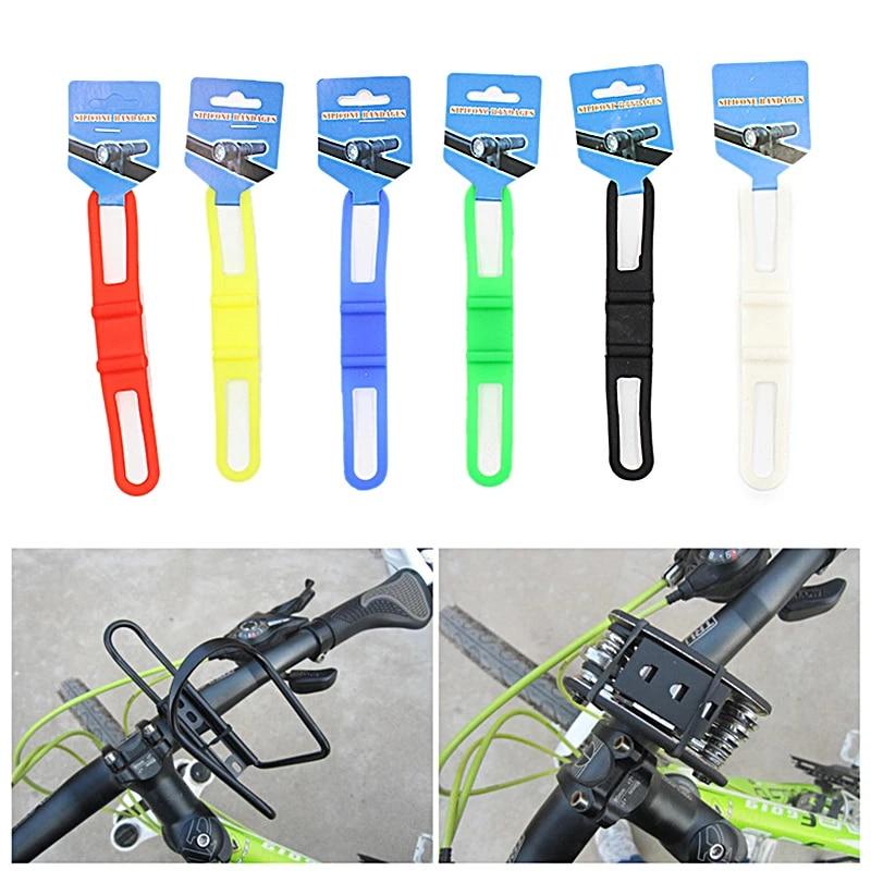 Light Holder Bicycle Handlebar Bandages Bike Fixing Elastic Silicone Strap