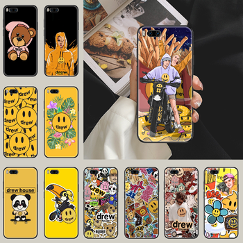 Justin Bieber Drew Phone case For Xiaomi Mi Max Note 3 A2 A3 8 9 9T 10 Lite Pro Ultra black painting back art hoesjes soft image