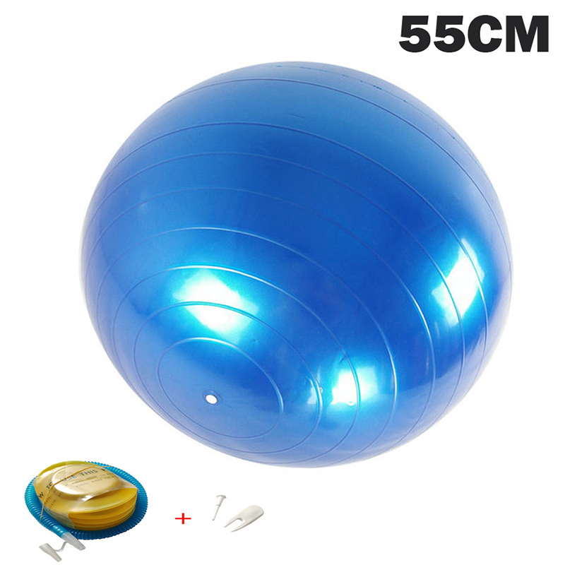 55CM Yoga Balls Pilates Fitness Gym Massager Point Balance Fitball Exercise Workout Ball  With Pump
