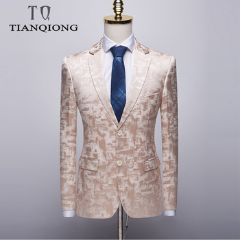 TIAN QIONG 2019 New Arrival High Quality Printed Casual Blazers Men,men's Casual Suits,printed Men's Jackets Plus-size S-4XL