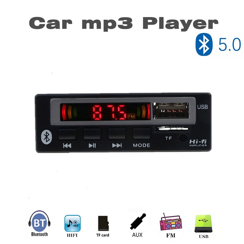 2019 MP3 WMA Decoder Board MP3 Player Car Audio USB TF FM Radio Module Wireless Bluetooth 5V 12V Remote Control For Car