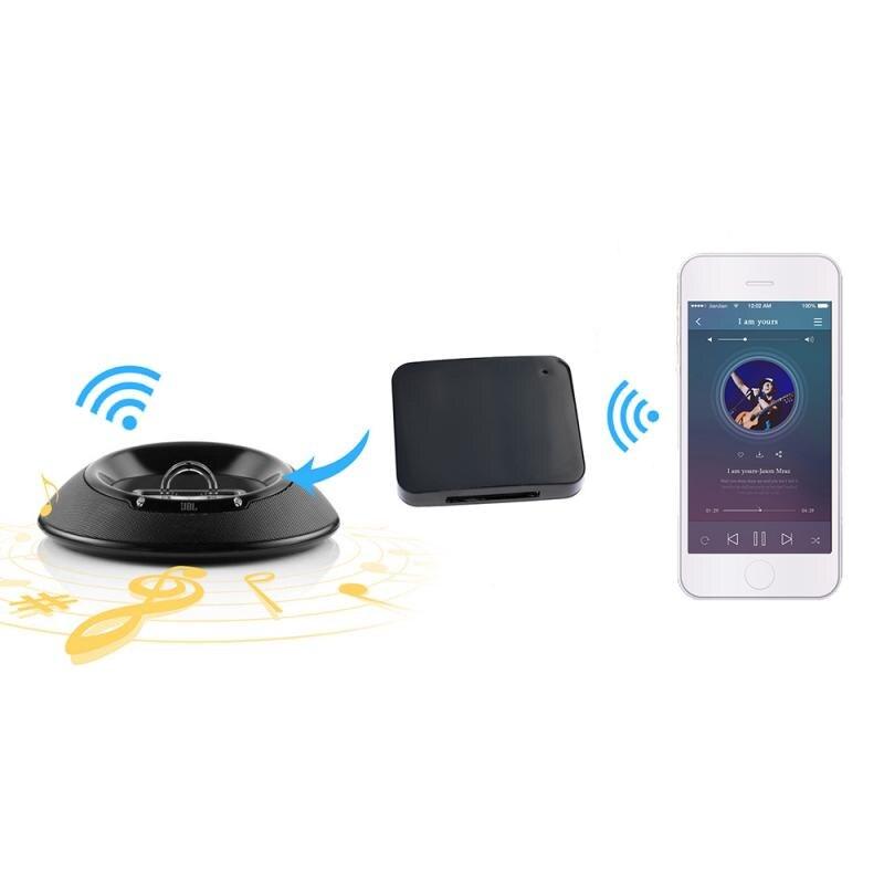 2019 Mini 30 Pin Bluetooth 5,0 A2DP Musik Empfänger Audio Wireless Stereo 30 Pin Adapter Für Bose Sounddock II 2 IX 10 lautsprecher