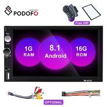 """Podofo Android 8.1Car Radio 2 Din 7 """"ekran dotykowy odtwarzacz MP5 Autoradio Bluetooth MirrorLink Radio samochód dla Nissan Toyato Hyundai"""
