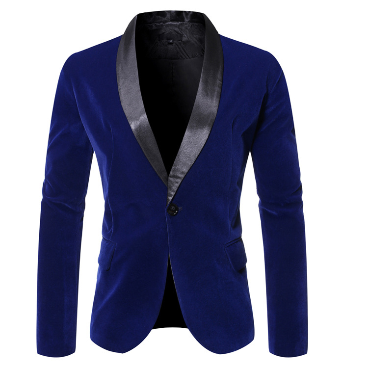 2020 Autumn And Winter New Products Men Casual Shawl Collar One-Button Suit Trend Men Suit 9773