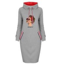 Модное осеннее женское платье с принтом для девочек винтажное