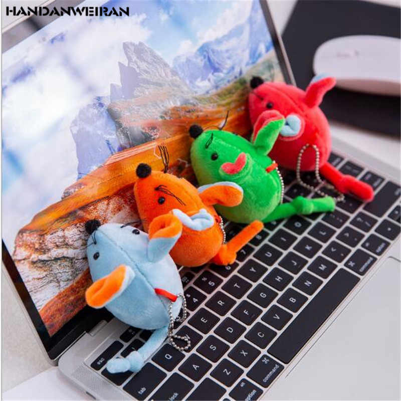New 7 Colors 18CM 1PCS Colorful Mouse Plush Toy PP Cotton Filled Valentine Gift Holiday Gift HANDANWEIRAN