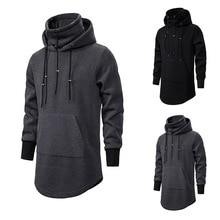Assassin Creed Mannen Diablo Midden Lange Hoed Losse Jas Dubbele Trekkoord Pocket Hoodie Mannen Sweatshirts Mannen Off Wit
