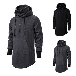 Image 1 - Assassins Creed Männer Diablo Nahen Lange Hut Lose Mantel Doppel Kordelzug Tasche Hoodie Männer Sweatshirts Männer Off White