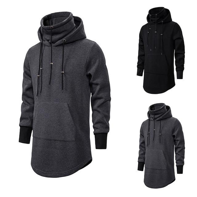 Assassins Creed Männer Diablo Nahen Lange Hut Lose Mantel Doppel Kordelzug Tasche Hoodie Männer Sweatshirts Männer Off White