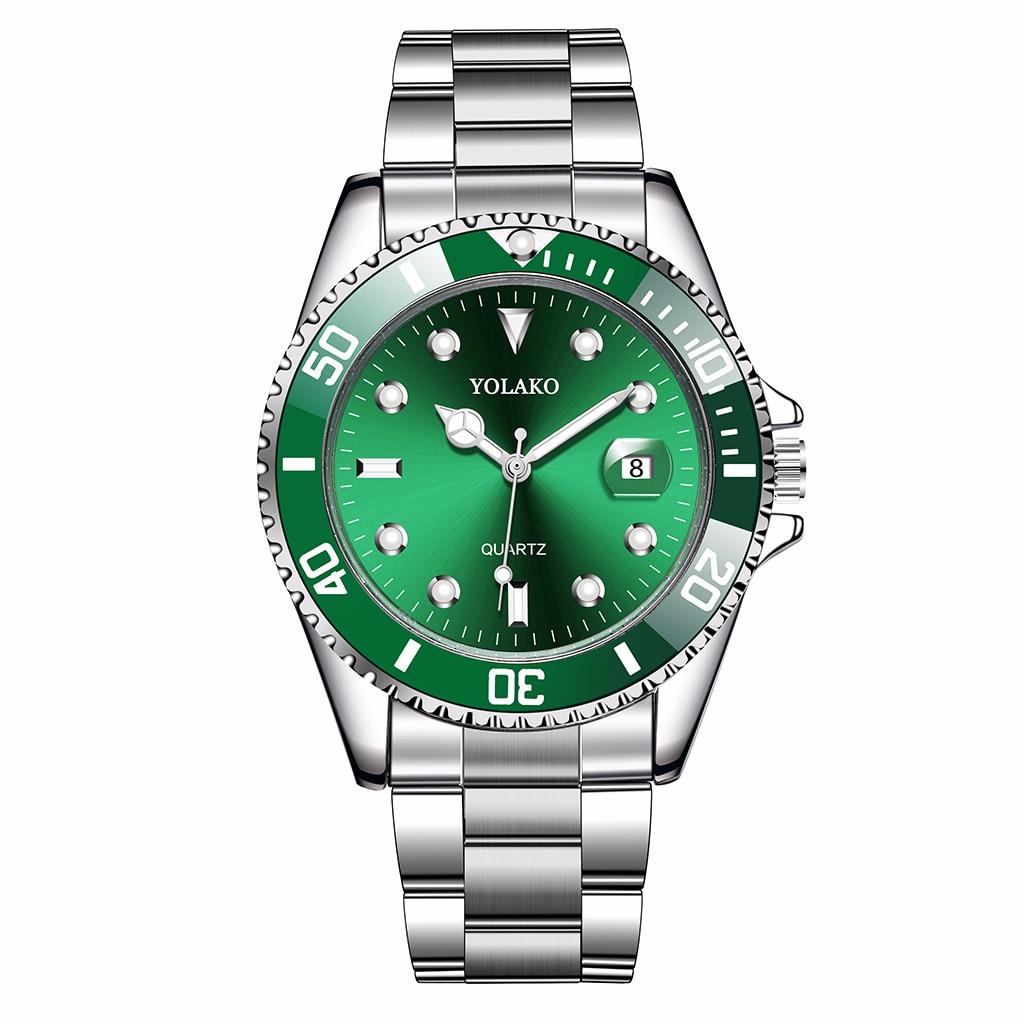 Men Stainless Steel Business Watches With Calendar Luxury YOLAKO Brand Male Sport Watch Quartz Clock Relogio Masculino Hot