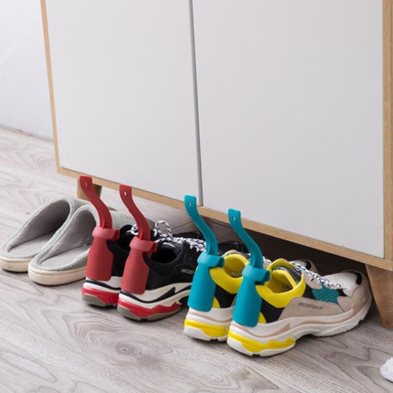 1 adet/2 adet ayakkabı çekeceği tembel Unisex giyim ayakkabı çekeceği meslek uygun yardımcı Shoehorn ayakkabı kolay açık ve kapalı ayakkabı sağlam kayma yardım