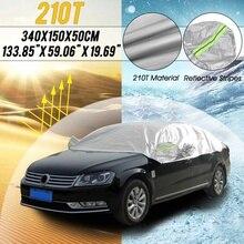 Universale per berlina mezza carrozzeria Car Cover 210T impermeabile Snow Cover Anti UV Sun parabrezza custodia protettiva con striscia riflettente