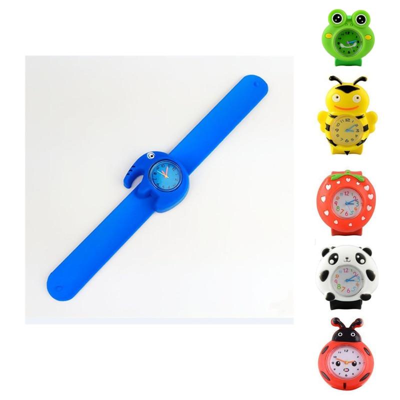 3D Cartoon Lovely Kid Children Watch Sports Silicone Slap Watch Baby Girl Quartz WristWatch Relogio Femininos Montre Femme Clock