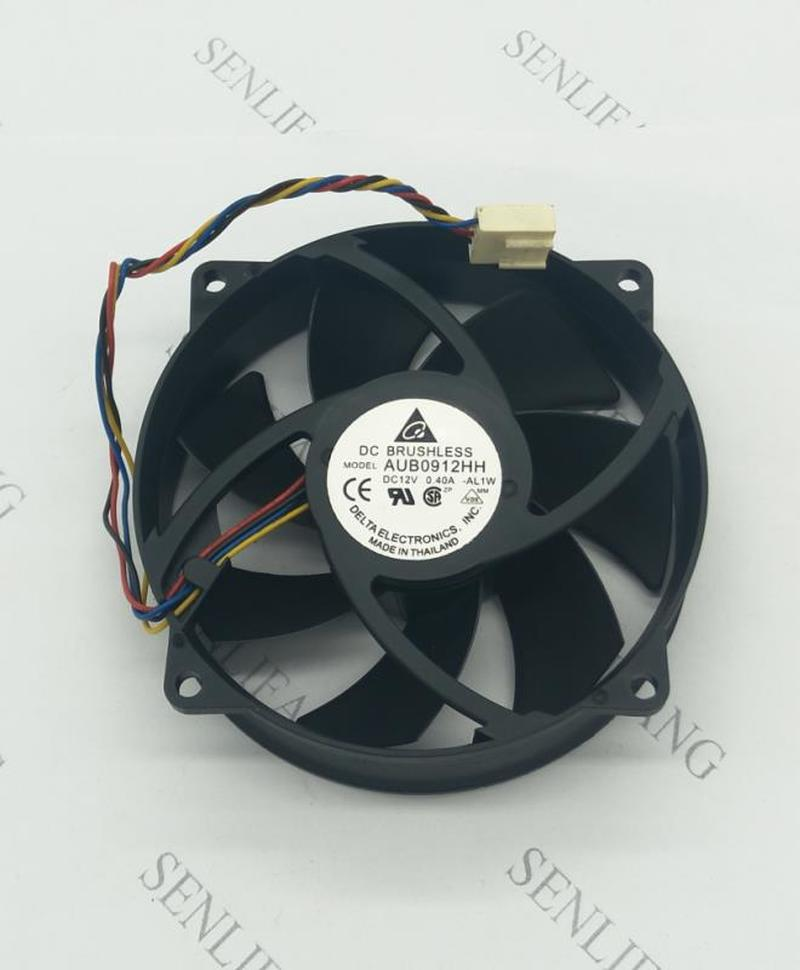 FOR AUB0912HH DC 12V 0.40A 9cm Round DIY Air Purifier Fan