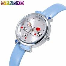SYNOKE New Children Quartz Watches Colorful Lovely Pandas Waterproof Kids Wrist