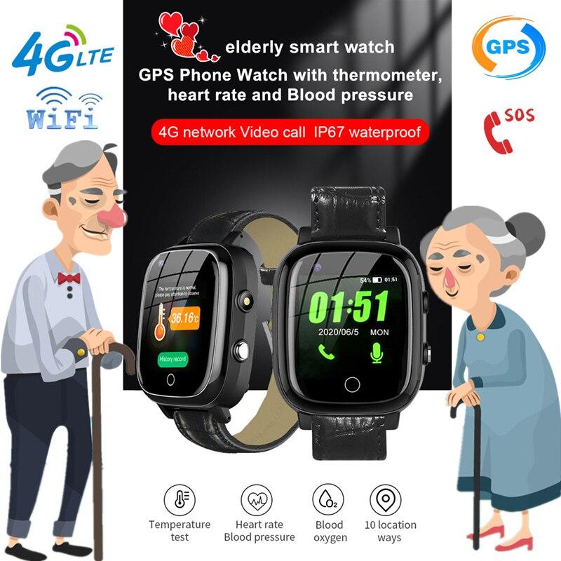 S5P 4G Смарт-часы для пожилых людей Смарт-часы с пульсометром GPS WIFI позиционирование трек-часы голосовой чат SOS Видеозвонок будильник старый че...